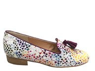 HB Clover Multi Colour Loafer With Purple Trim